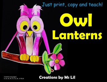 Owls Craft  ::  Owl Activity  ::  Owl Art Project