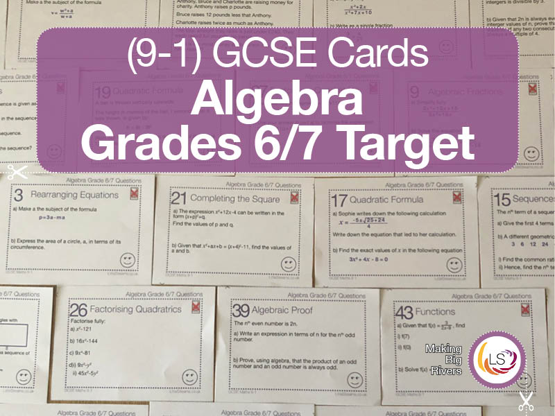 Algebra | grades 6/7 target GCSE 9-1 maths