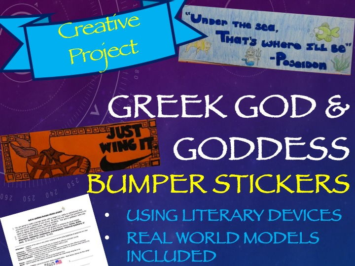 Greek Mythology Creative Project: god and goddess Bumper Stickers