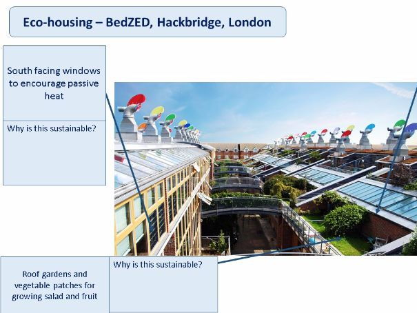 Sustainable communities, BedZED and Egan's wheel (includes homework) - Eduqas WJEC GCSE (Theme 2)