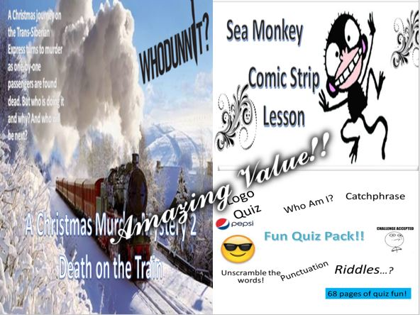 Christmas Murder Mystery 2 + Sea Monkey + Fun Quiz Pack
