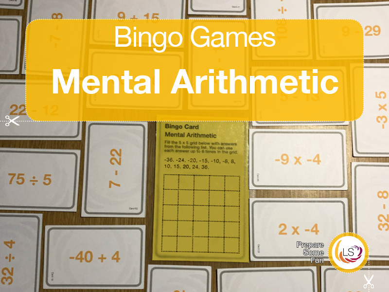 Arithmetic with Negative Numbers | Bingo Game