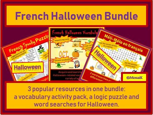 French - Halloween BUNDLE of activities