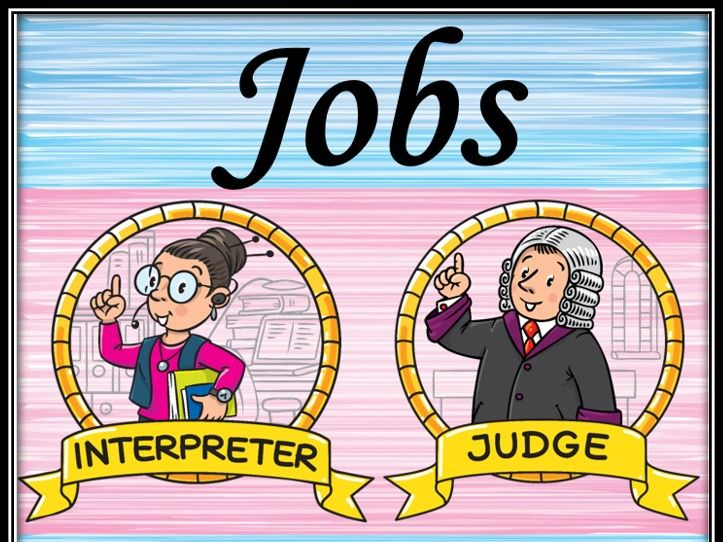 Jobs/Professions. ABC matching game.