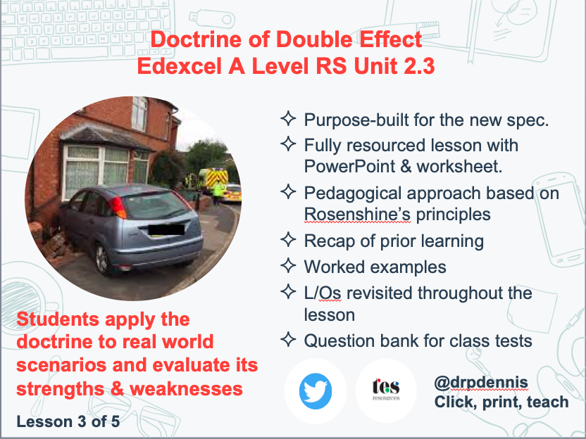 Doctrine of Double Effect (Edexcel new spec)