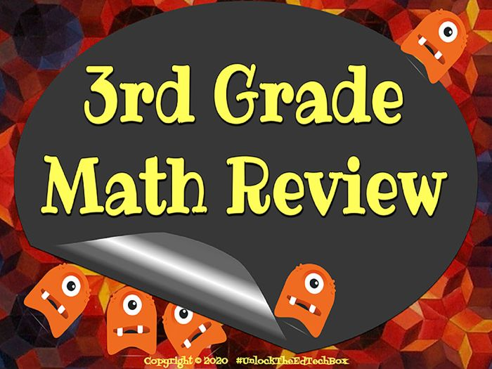 3rd Grade Math Review 24 Interactive Digital or Printable Activities - Answers