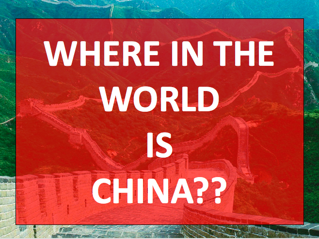 Where in the world is China?