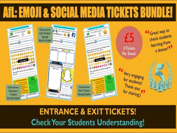 FULL! Afl Bundle: Emoji & Social Media Tickets