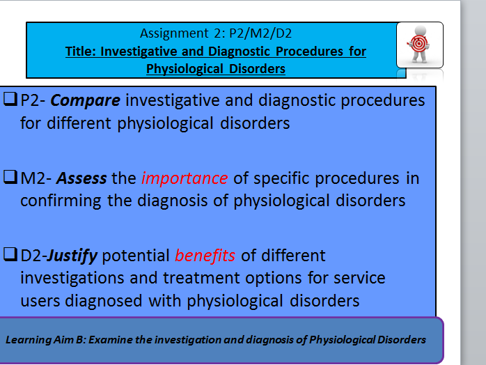 Health&Social Care-Unit 14 Physiological Disorders (New Spec) P2 M2 D2- Lesson&Activity Booklet