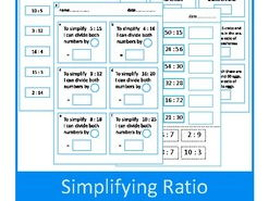 Autism, Simplifying Ratio Worksheets, Special Education , SEND