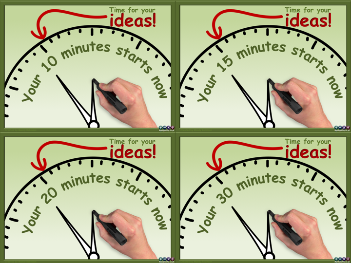 10, 15, 20 and 30 minute Ideas Countdown Timers