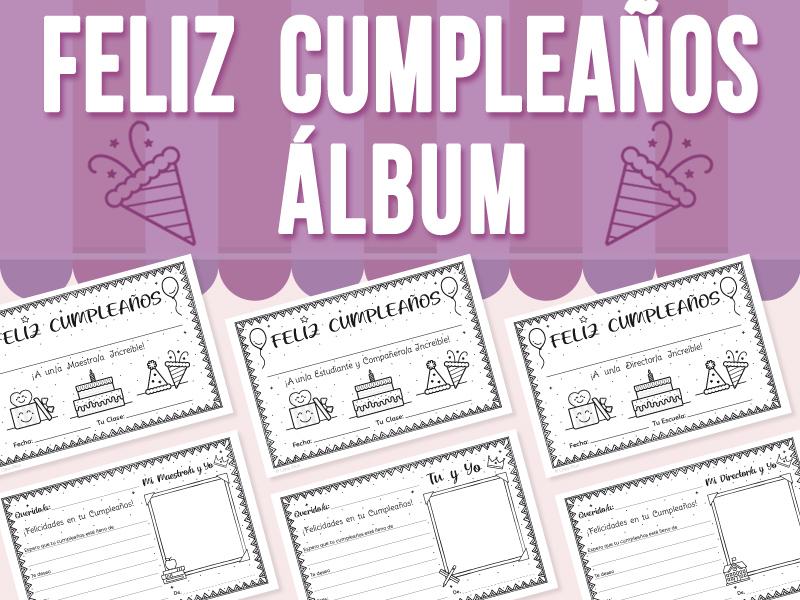Álbum de Feliz Cumpleaños - Maestros, Estudiantes y Directores