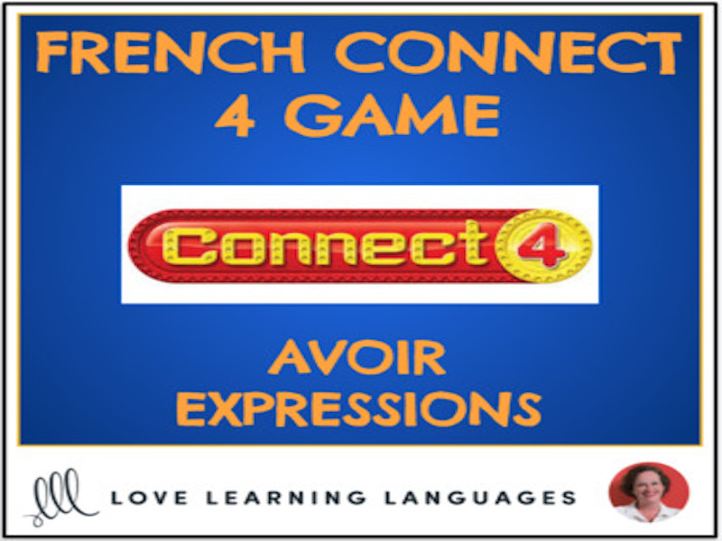 French Connect 4 Game - Avoir Expressions