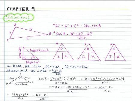 AS Pure Maths notes- Chapter 9 (Trigonometric ratios)