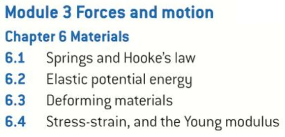 OCR AS level Physics: Materials