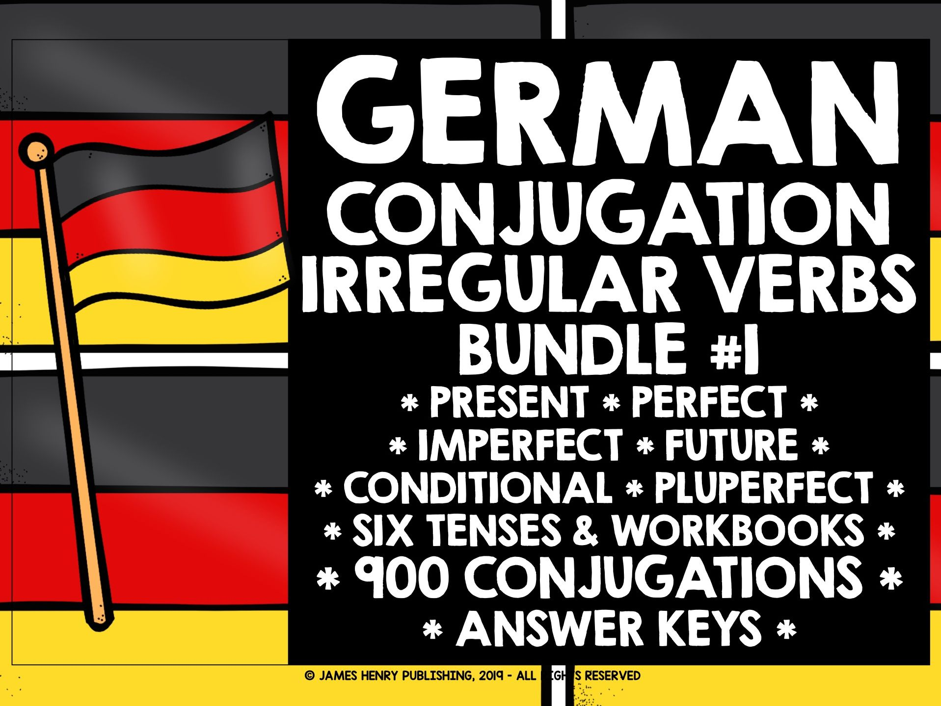GERMAN IRREGULAR VERBS CONJUGATION BUNDLE #1