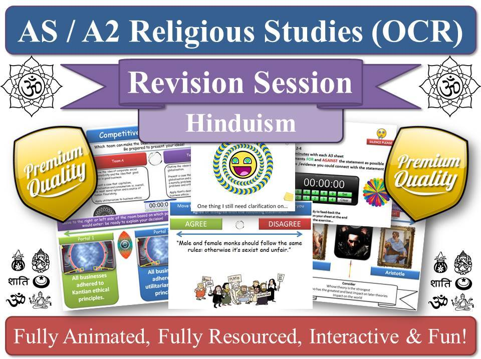 Vedanta - A2 Hinduism Religious Studies - Revision Session ( OCR KS5 ) Vedic Vedas Hindu