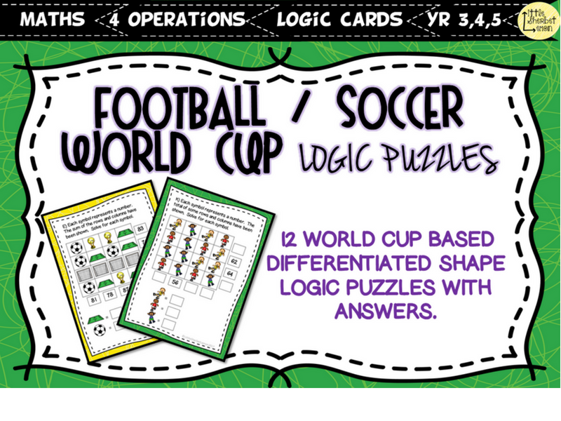 Football World Cup 2018 Logic Puzzles