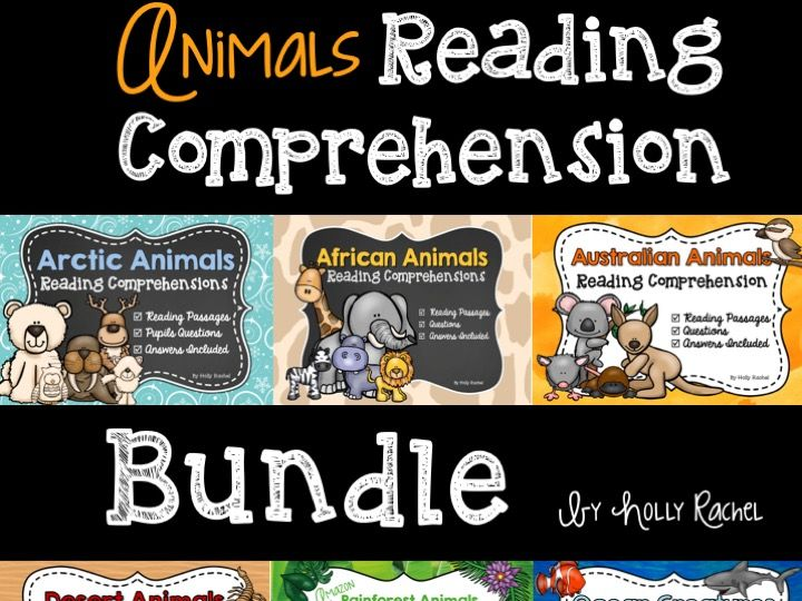 Animals Reading Comprehension Bundle