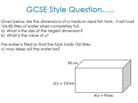 GCSE Style Question - Back to Basics