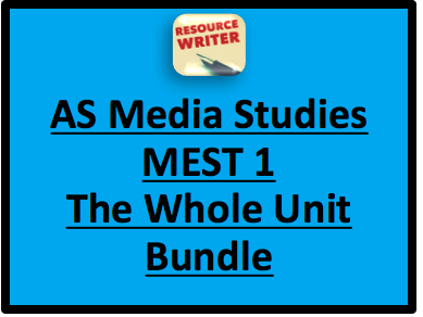 AQA AS Media Studies MEST 1 Whole Bundle