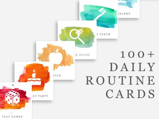 100+ Editable Daily Routine Cards