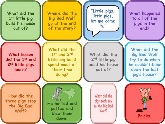 The Three Little Pigs - Interactive Questions