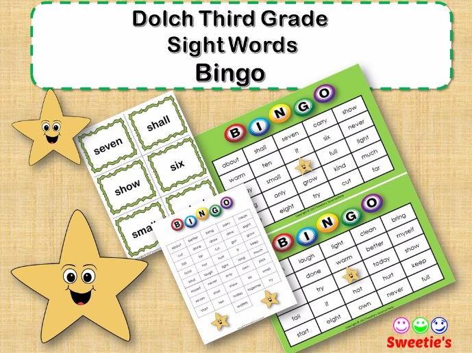 Dolch Sight Words Bingo - Third Grade