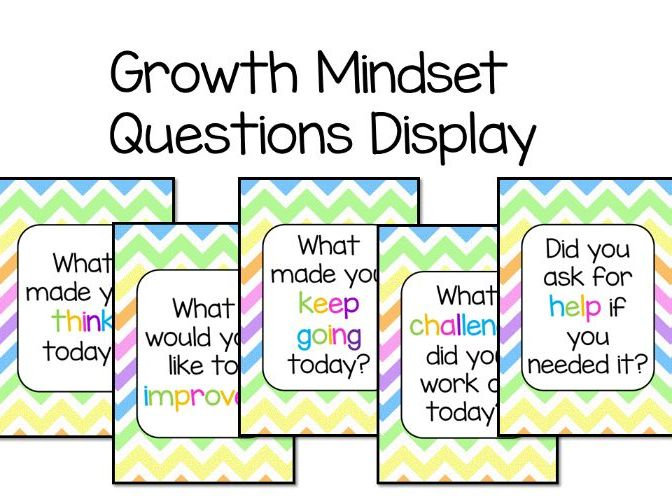 Growth Mindset Questions Display
