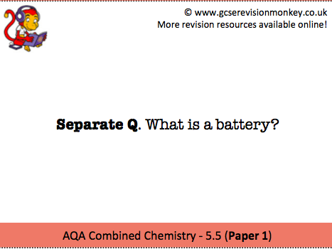 Revision Cards - AQA Separate Chemistry 5.5