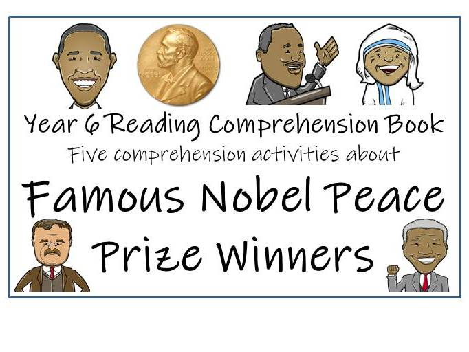 UKS2 History - Famous Nobel Peace Prize Winners Reading Comprehension Book