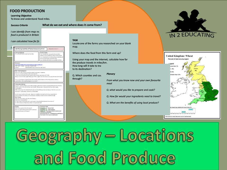 KS2 Geography Locations of food produce