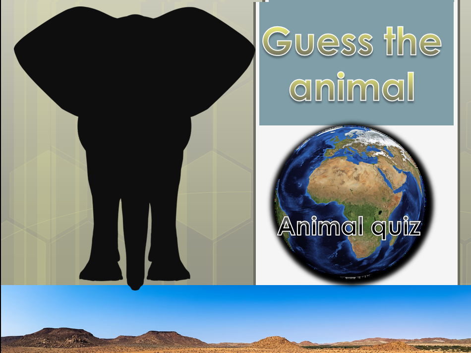 KS1/lower KS2 (SEN) powerpoint  African animal quiz .
