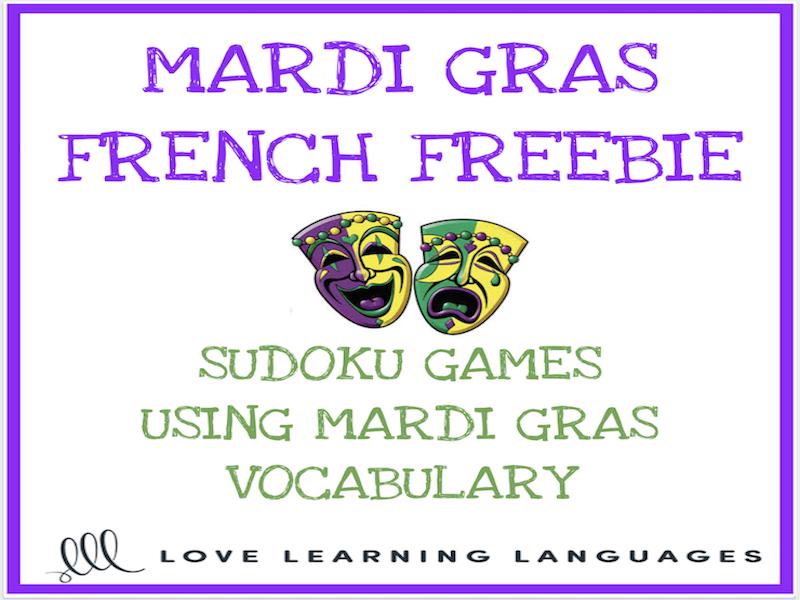 Free French Mardi Gras Sudoku Games