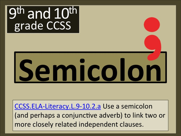 Semicolon : The Connector