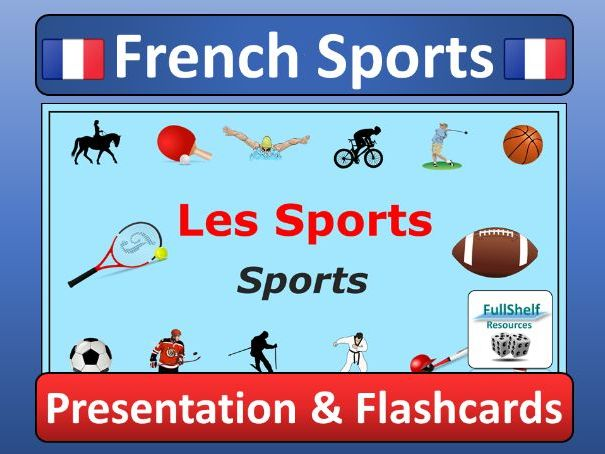 photograph about Printable French Flashcards named French Sports activities (Les Sports activities) Presentation