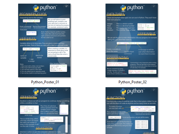 Python Posters For Beginners