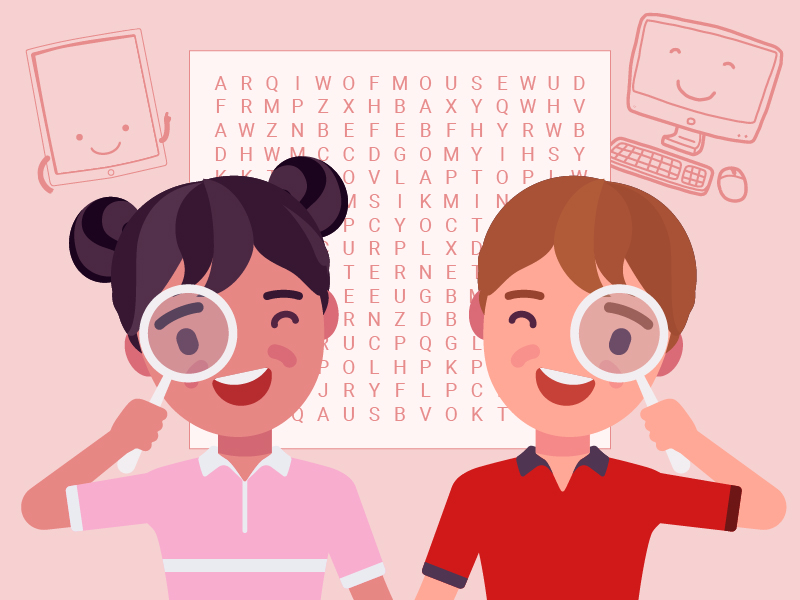 Tech Talk find a word (computing activity)
