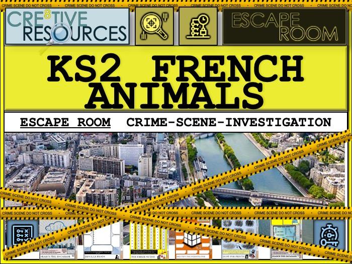Les Animaux French KS2 Escape Room