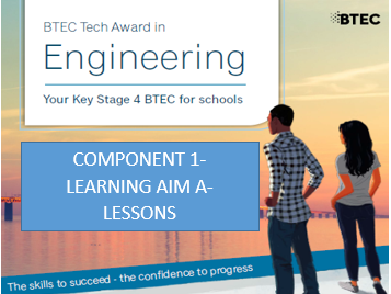 BTEC Tech Award in Engineering- Component 1-Learning Aim A- Lessons