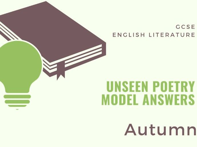 Model Answer: Unseen Poetry - Aututmn