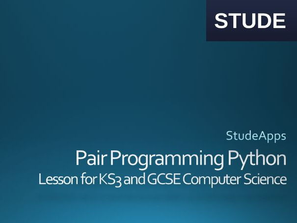 Python  Pair Programming activity for AQA GCSE Computer Science