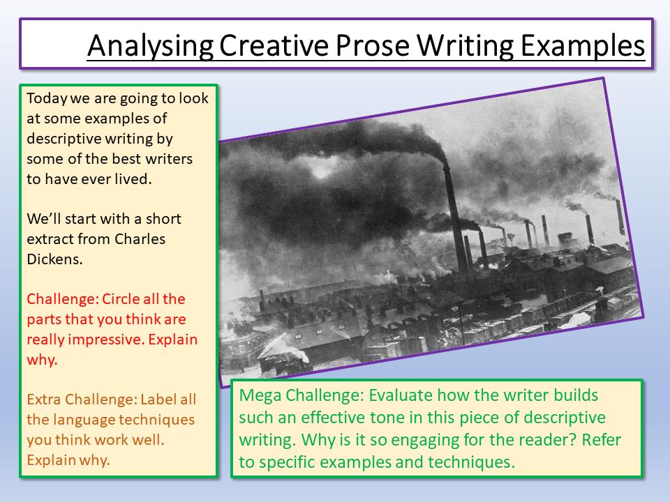 Eduqas Creative Prose Examples