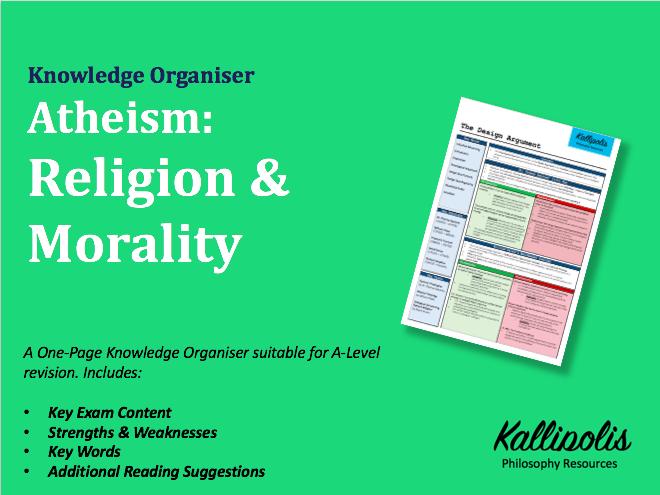Atheism, Religion & Morality - Knowledge Organiser
