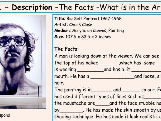 Writing about an Artist- Chuck Close 4-step Activity