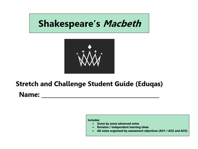 GCSE 9-1 Macbeth Eduqas Scheme of Work / Learning