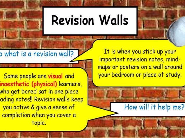 Revision activity - any subject Create a revision wall!!! KS4/KS5
