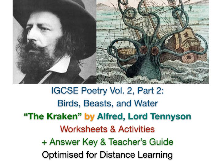 """IGCSE Poetry: """"The Kraken"""" by Alfred, Lord Tennyson (Complete Teaching Unit + EXAM PREP)"""