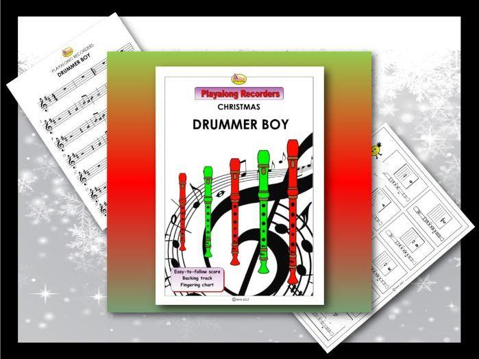 "Playalong Christmas Recorders ""DRUMMER BOY"""