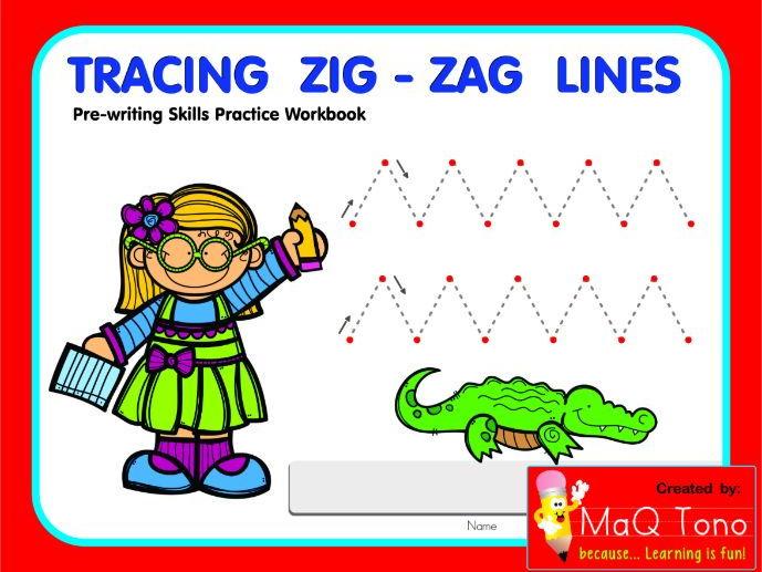 Tracing Zig - Zag Lines Workbook